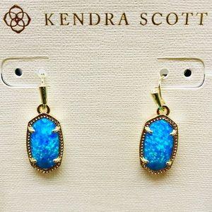 KendraScott Ocean Kyocera Opal G tone earrings